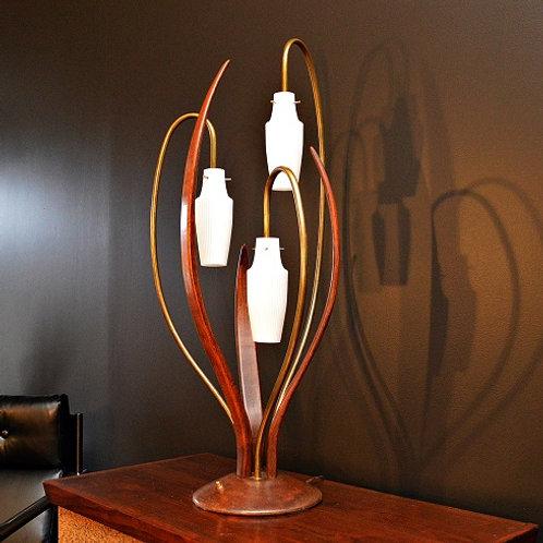 LARGE Mid Century Danish Modern Bentwood Lamp