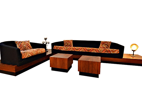 Adrian Pearsall for Craft Associates Cloud Sofa Sectional w/Chair & Tables
