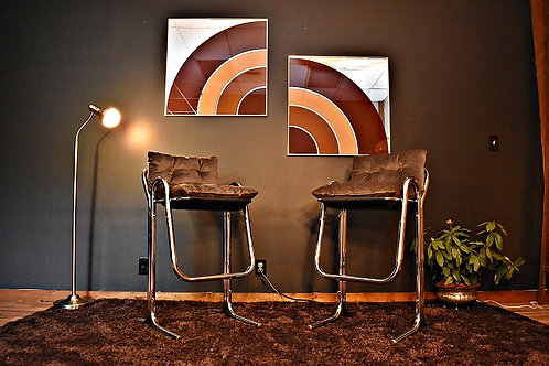 Pair of Mid Century Greg Copeland Style Pop Art Mirrors