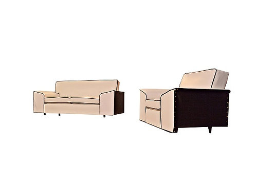 Custom 1952 Child's Mid Century Sofa and Chair Set