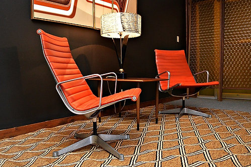Authentic Pair of Mid Century Eames for Herman Miller Aluminum Group Lounge Chai