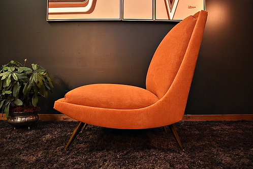 Retro Mid Century Jetson's Style Low Profile Boomerang Chair