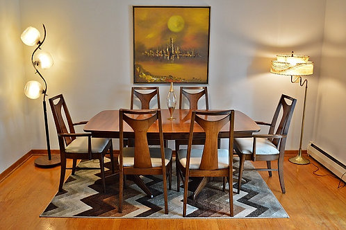 """Mid Century Kent Coffey """"Perspecta"""" Dining Table with 6 Chairs"""