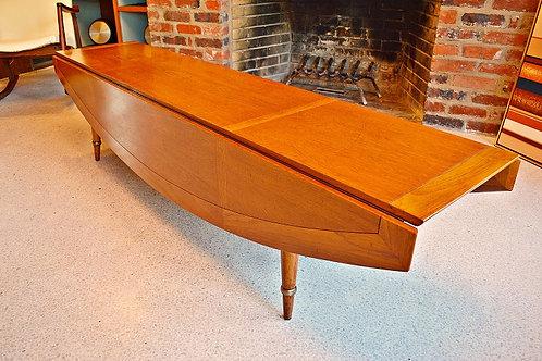 Mid Century Tomlinson Sophisticate LONG Drop Leaf Coffee Table