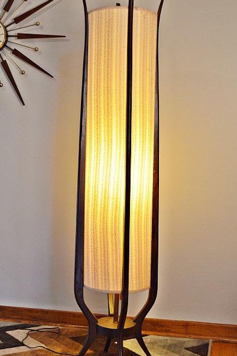 Mid Century Danish Modern Cylinder Floor Lamp - 5ft Tall!