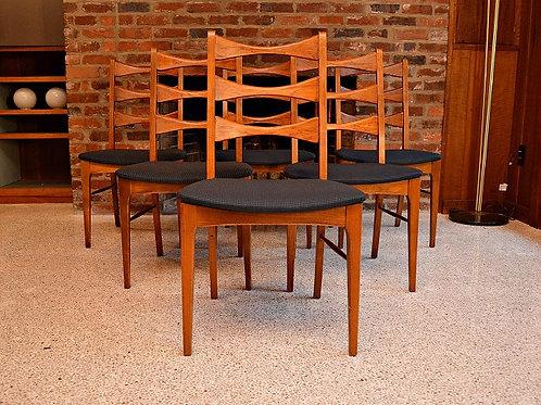 Mid Century Lane Bowtie Dining Chairs - Set of 6