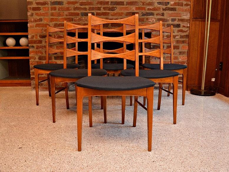 Tremendous Mid Century Lane Bowtie Dining Chairs Set Of 6 Download Free Architecture Designs Aeocymadebymaigaardcom
