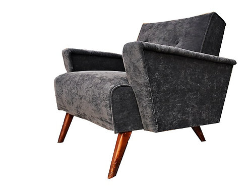Mid Century Space Age Atomic Velvet Arm Chair