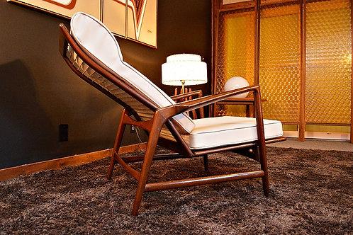 Mid Century Danish IB Kofod Larsen for Selig Recliner / Lounge Chair