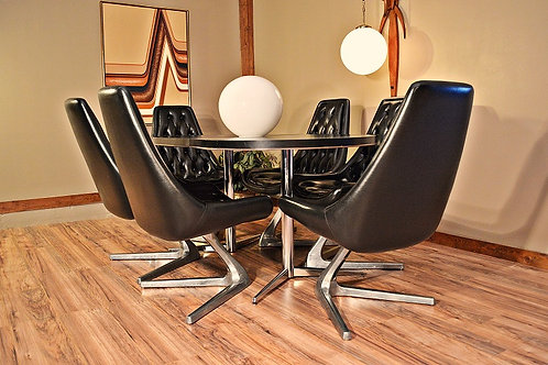 Mid Century Sculpta Star Trek Kagan Inspired Dining Set w/6 Chairs