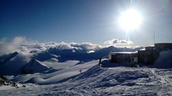 Панорама приюта ветер на эльбрусе