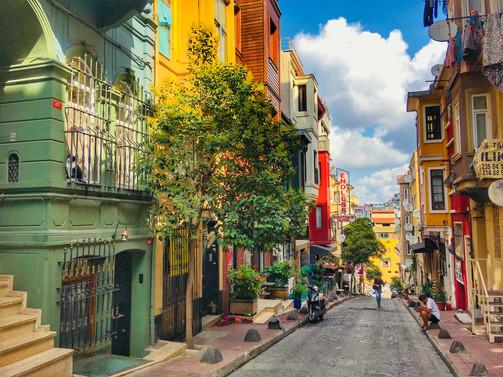 Улица Феридие, на которой мы жили.