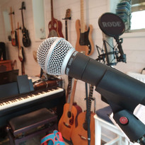 Studio view from where you will be singing