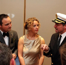 Captain with the guests