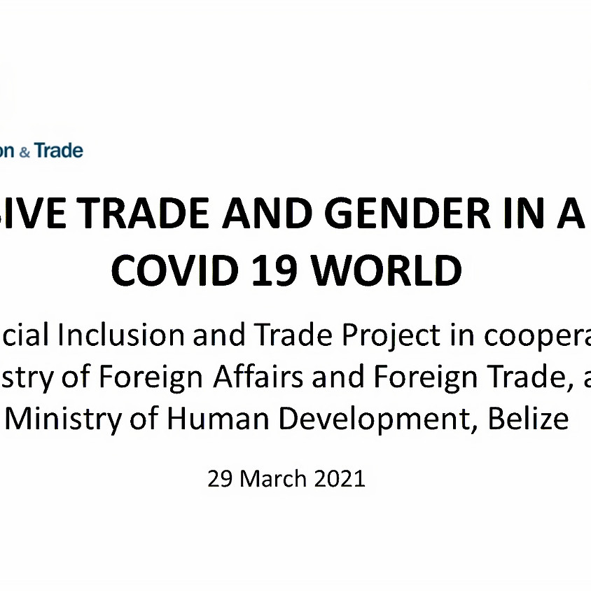 INCLUSIVE TRADE AND GENDER IN A POST-COVID 19 WORLD