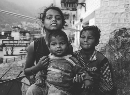 3 KIDS in Rishikesh, India