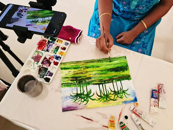 watercolours online painting classes for