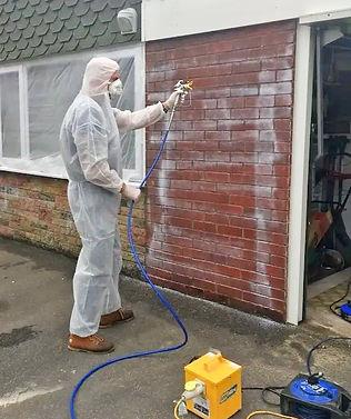 Applying energy efficient wall coating