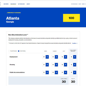Find Out How States and Cities Are Rated in Support of LGBT People with HRC's Search Engine