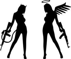 Angel-Devil-Sexy-Beauty-Gun1