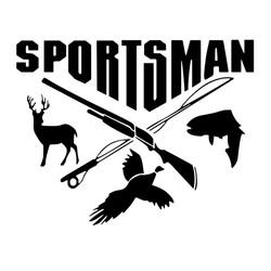 SPORTSMAN-Hunting-Fishing-Deer-Fish-Bird