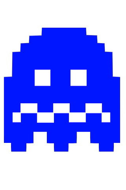pacman ghost scared