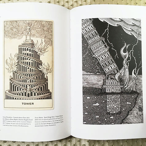 Photograph: Taschen's TAROT book, open to a page on the Tower.