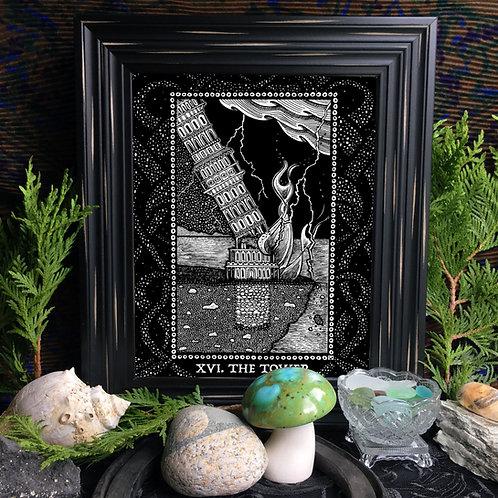 Spirit Vertigo Tarot Tower Fine Giclée Print