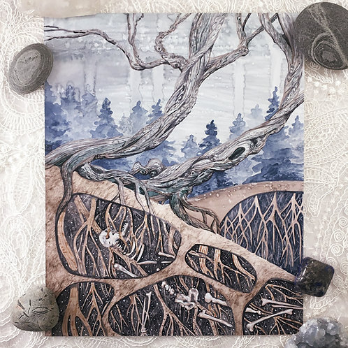 The Roots That Drank Our Bones Original Watercolor Painting