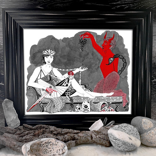 The Empress and The Devil  Fine Giclée Print