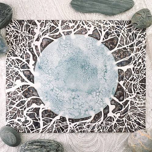 Mycelium Original Watercolor Painting