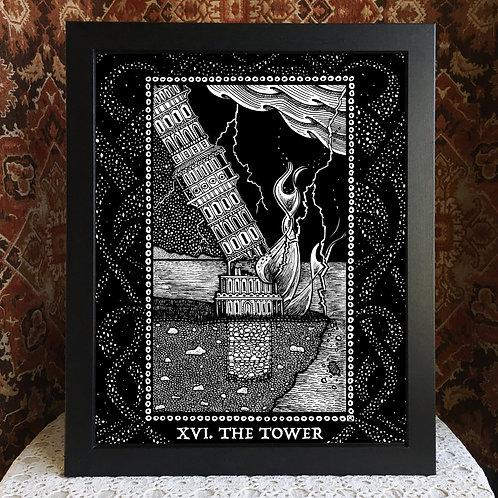 "Spirit Vertigo Tarot Tower 16x20"" Poster"