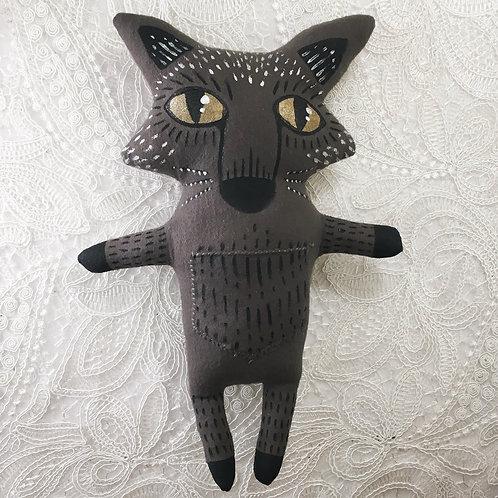Black Fox Stitchy Pocket Doll