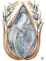 White Flag (Mugwort & Goose Feather)