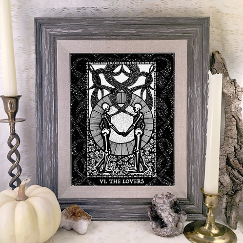 Spirit Vertigo Tarot Lovers  Fine Giclée Print