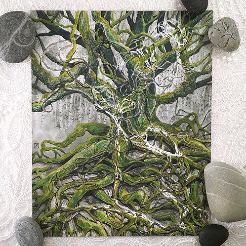 Rope Oak Original Watercolor Painting