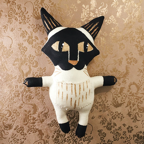 Seal Point Cat Stitchy Pocket Doll