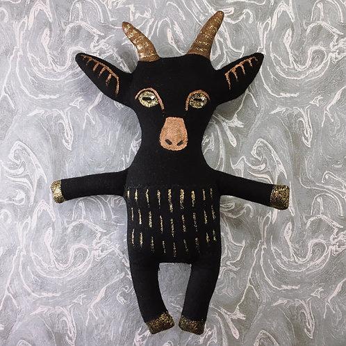 Black Goat Stitchy Pocket Doll