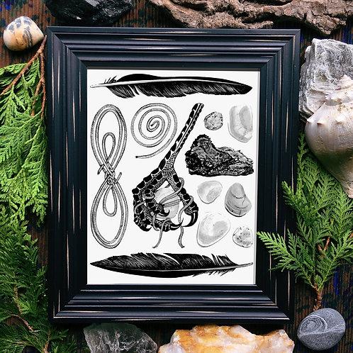 Crow's Foot Fine Giclée Print