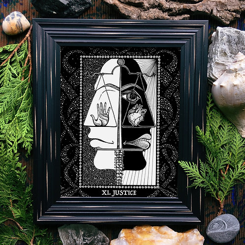 Spirit Vertigo Tarot Justice Fine Giclée Print