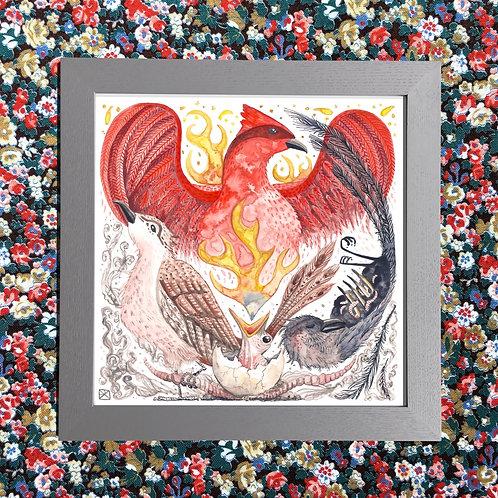 The Phoenix And The Worm Fine Giclée Print