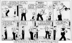 Annie's first strip