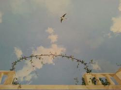 particolare soffitto, Noto 2014