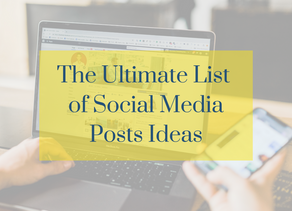 The Ultimate List of Social Media Posts Ideas