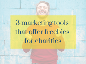 3 marketing tools that offer freebies for charities