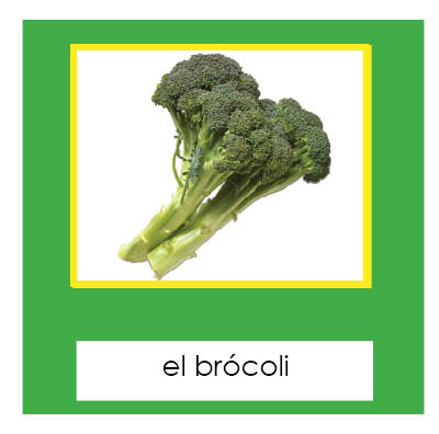 Veggies 3-Part cards- Spanish