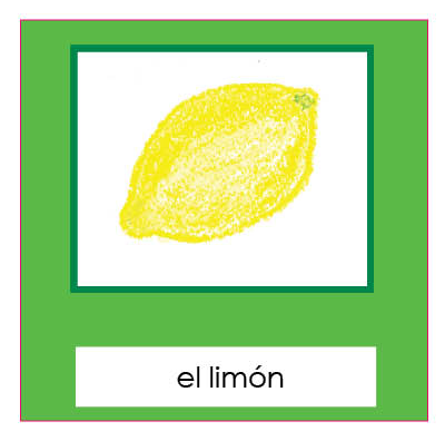 Fruits 3-Part cards- Spanish