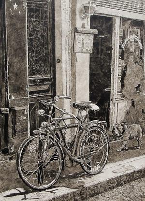 Bicyclette et Bulldog