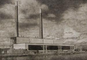 La centrale EDF de Porcheville
