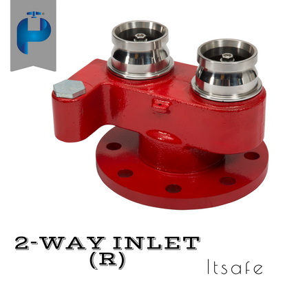 2 Way Fire Inlet - S.S
